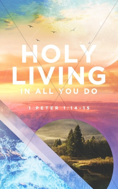 Holy Living Church Bulletin Cover Design