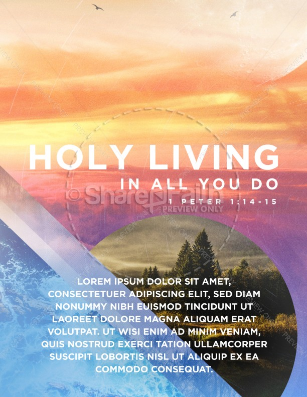 Holy Living Church Flyer Design Template Flyer Templates