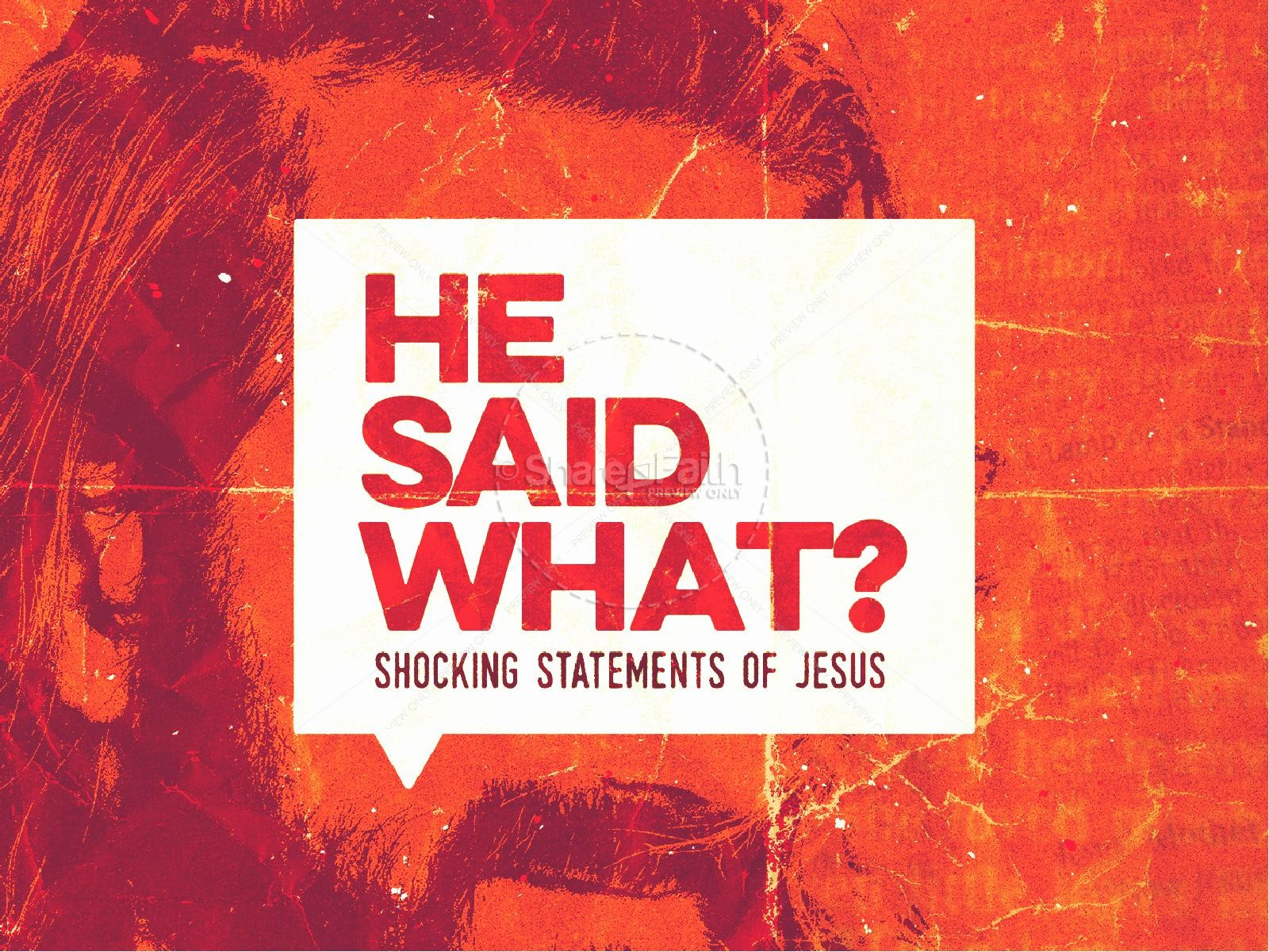 Jesus Said What Sermon Graphic
