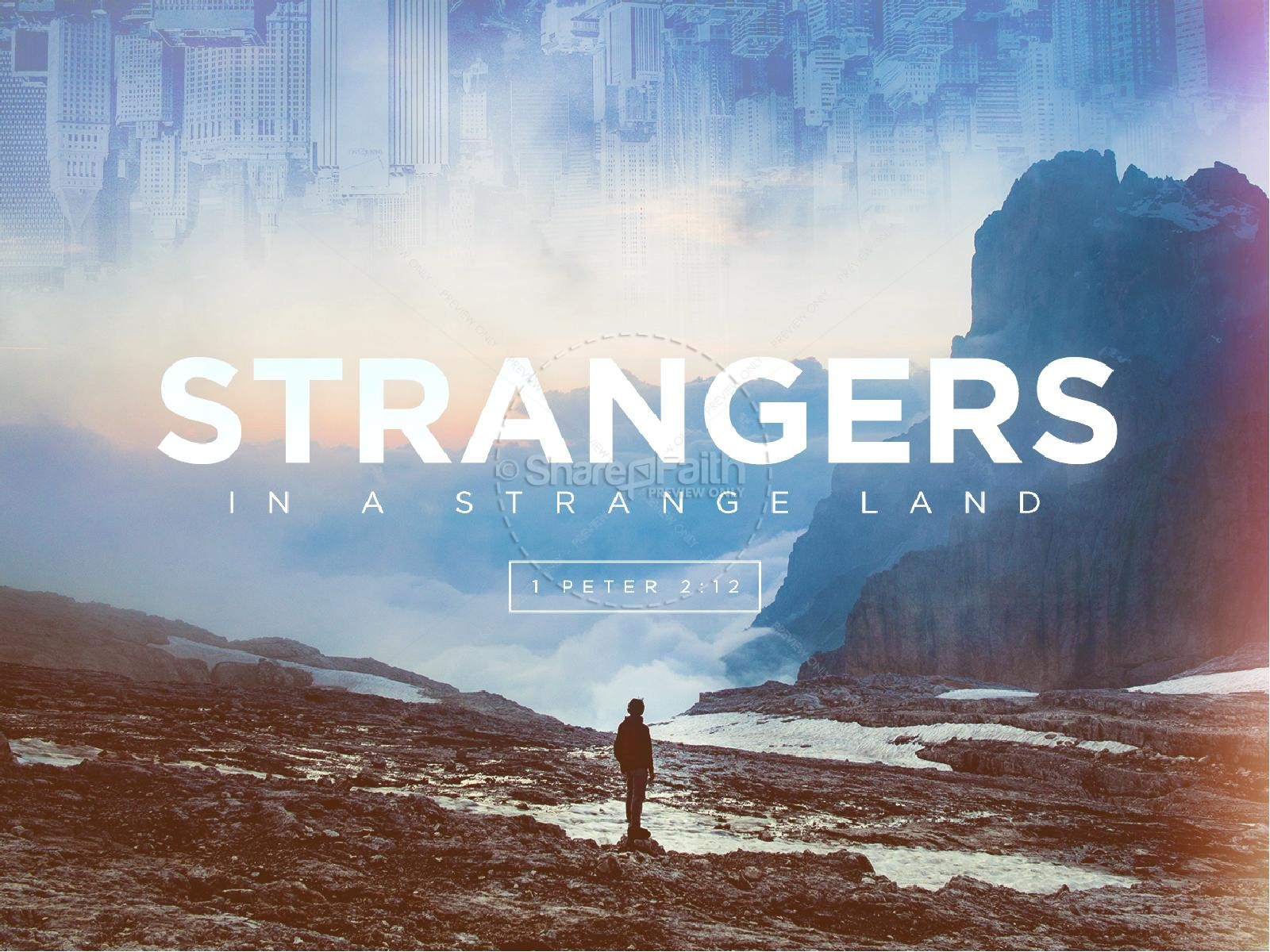Strangers In A Strange Land Church Graphic | slide 1