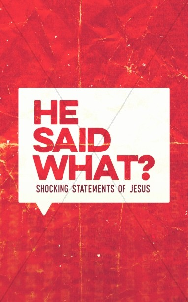 Jesus Said What Church Bulletin Cover Template