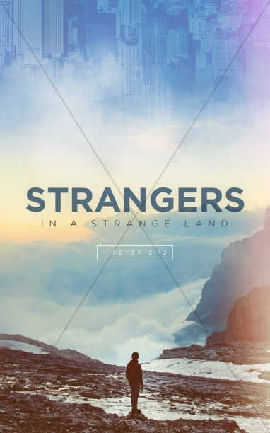 Strangers In A Strange Land Church Bulletin Cover Template