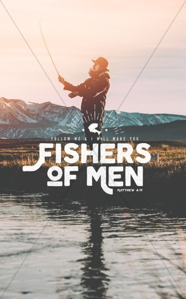 Fishers of Men Church Bulletin Cover