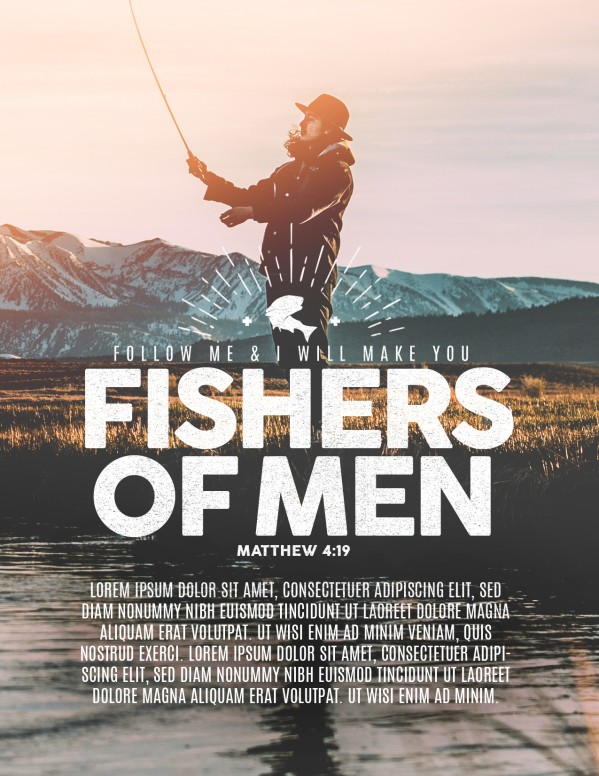 Fishers of Men Church Flyer Template