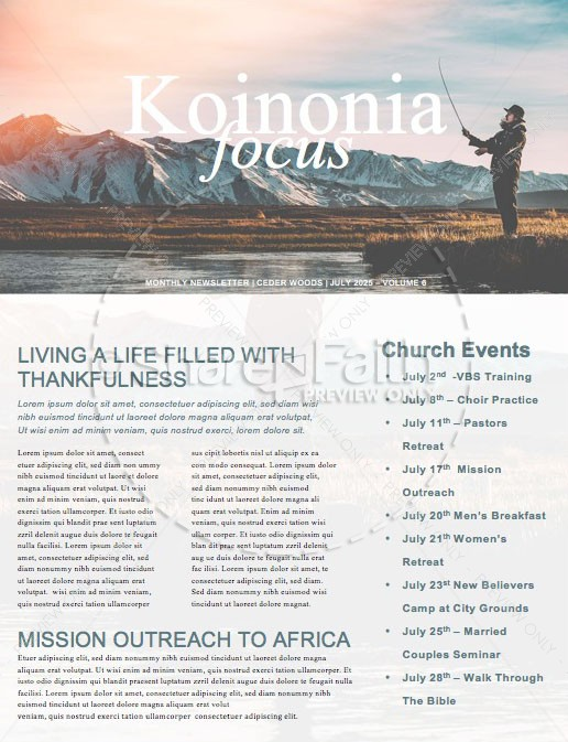 Fishers of Men Newsletter Template