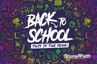 Back To School Church Motion Graphic