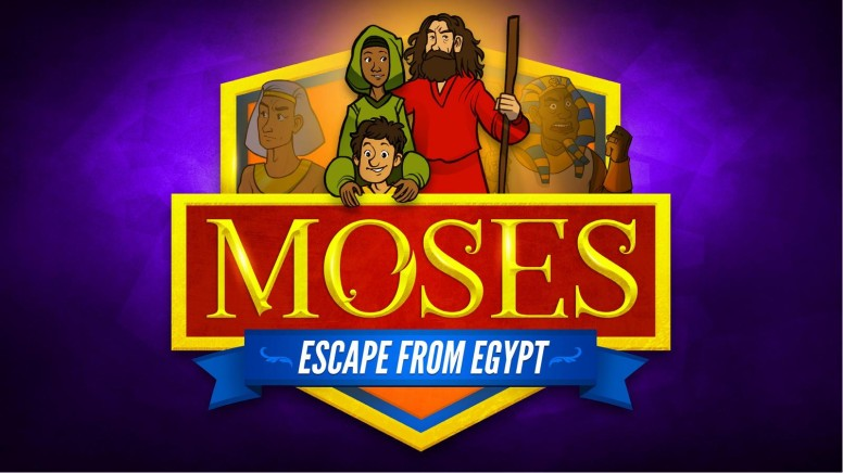 Exodus 2 Moses Escapes From Egypt Kids Bible Story