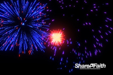 Radiant Fireworks Motion Background