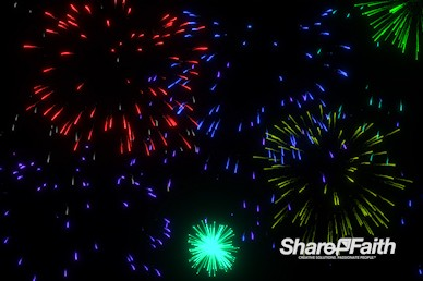 Slow Motion Fireworks Motion Background