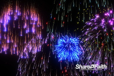 Cascading Fireworks Worship Video