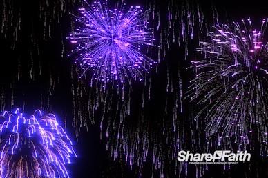 Bursting Fireworks Motion Background