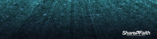 Underwater Triple Wide Church Motion Graphic
