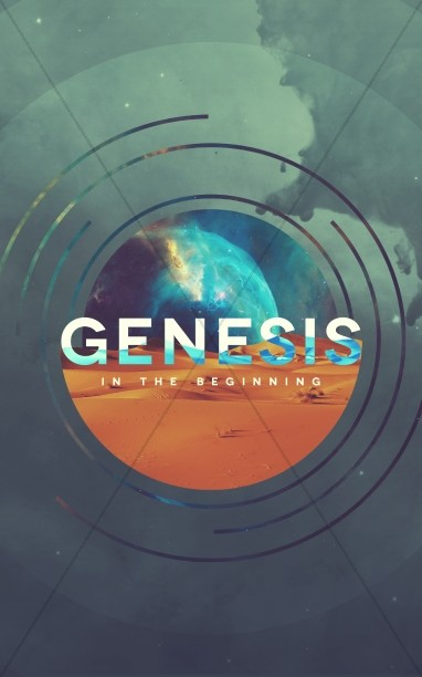 Genesis In The Beginning Church Bulletin Template