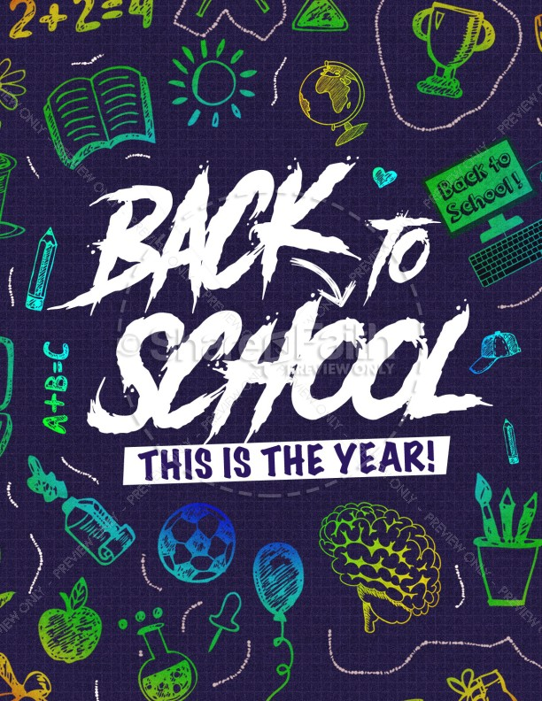 Back To School Church Flyer Template Template | Flyer Templates