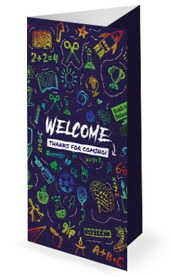 Back To School Tri Fold Bulletin Cover Template