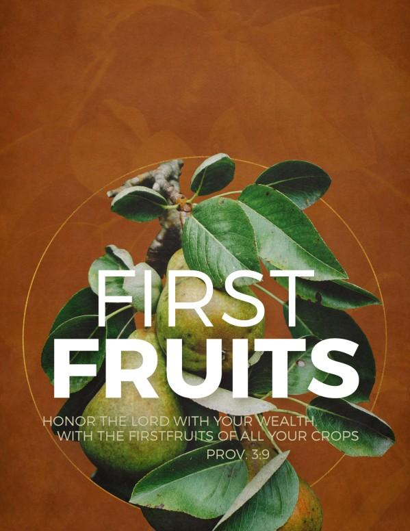 First Fruits Church Flyer Template