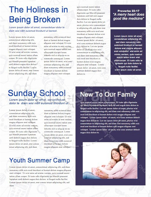 Back To School Church Newsletter Template