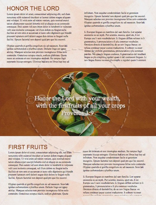 First Fruits Church Newsletter Template