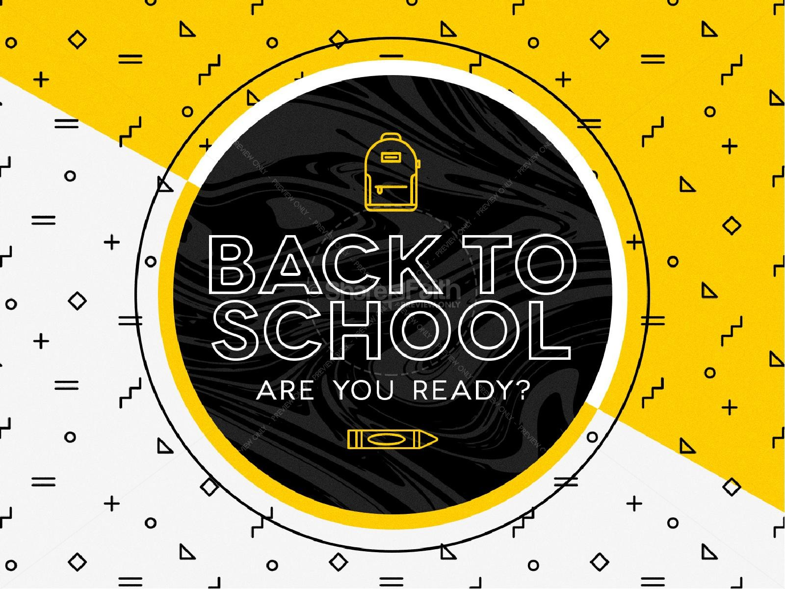 Back To School Sermon PowerPoint Template