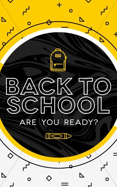Back To School Church Bulletin Cover Template