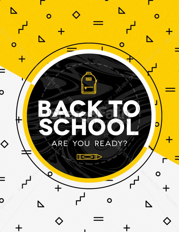 Back To School Flyer Template Template | Flyer Templates