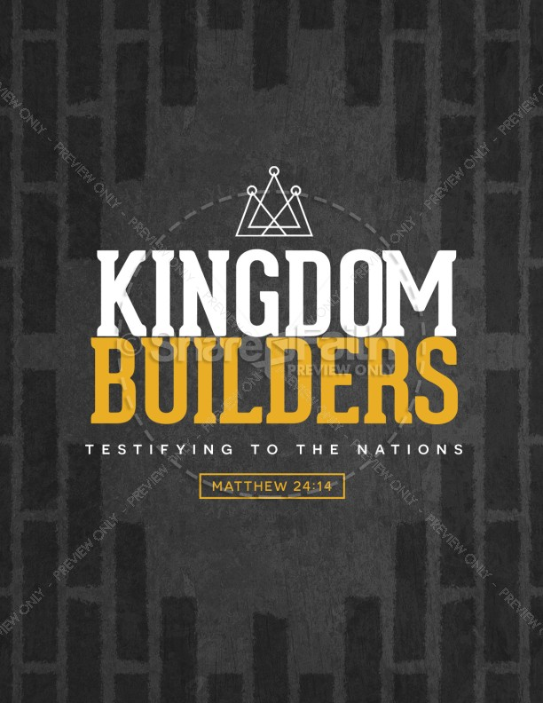 Kingdom Builders Church Flyer Template