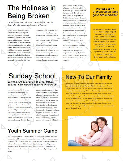sunday school newsletter templates