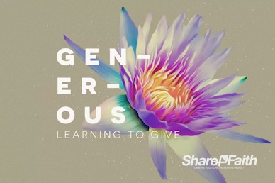 Generosity Sermon Series Church Motion Graphic