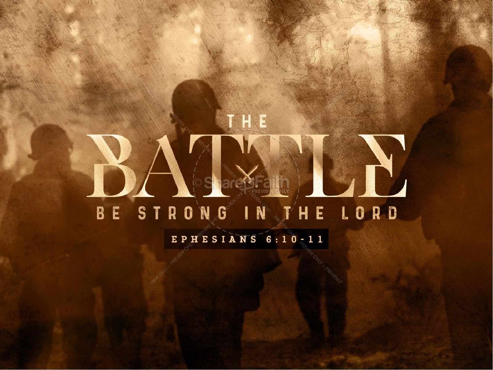 Spiritual Battle Sermon PowerPoint Template | slide 1
