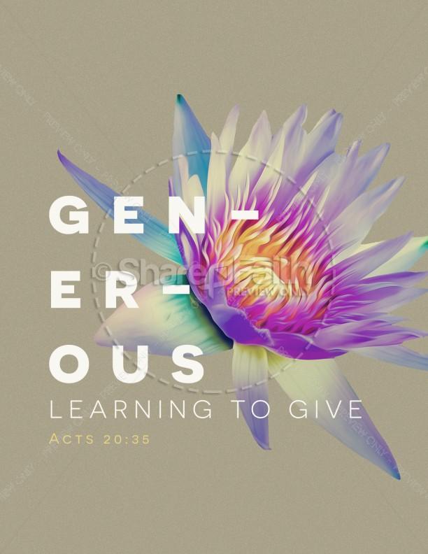 Generosity Sermon Series Flyer Template