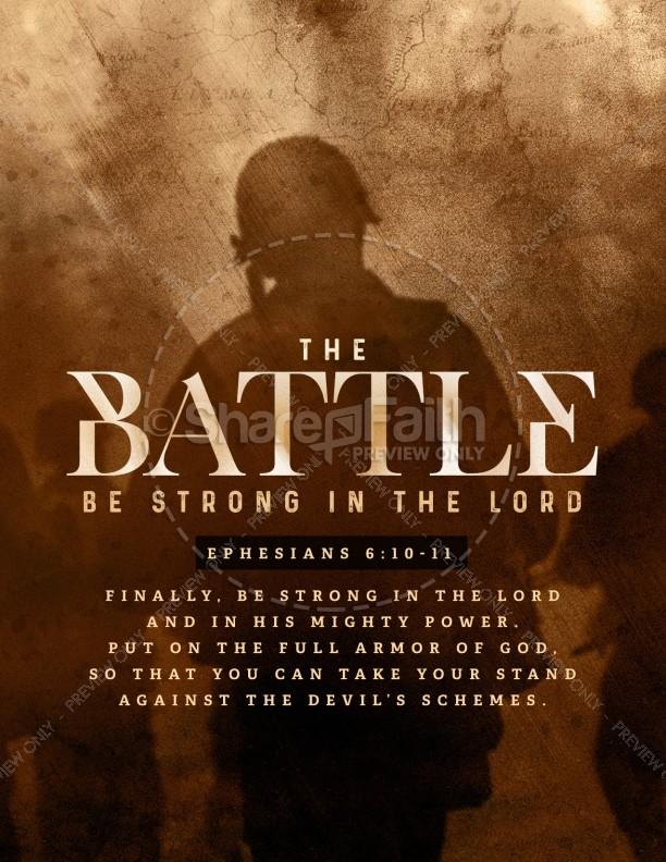 Spiritual Battle Church Flyer