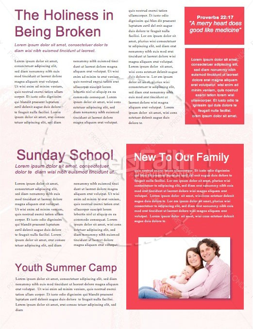 Returning To God Church Newsletter Template