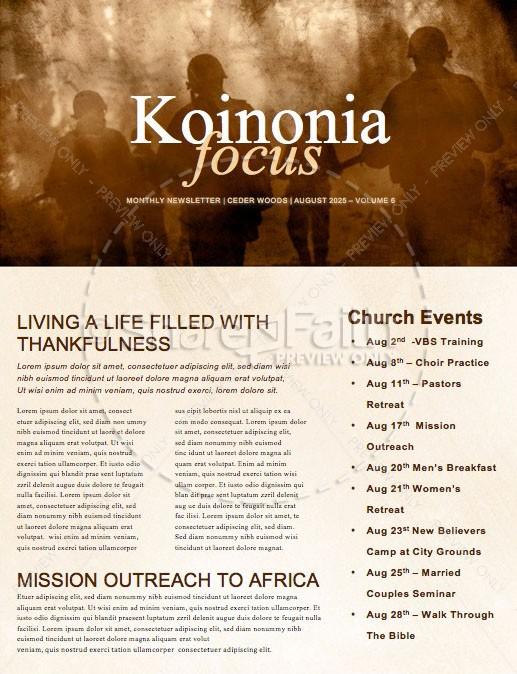 Spiritual Battle Church Newsletter Template