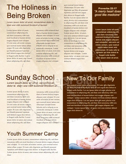 Spiritual Battle Church Newsletter Template