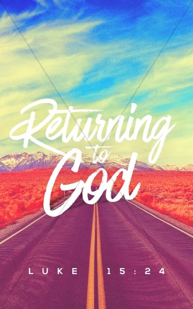 Returning To God Church Bulletin Cover Template