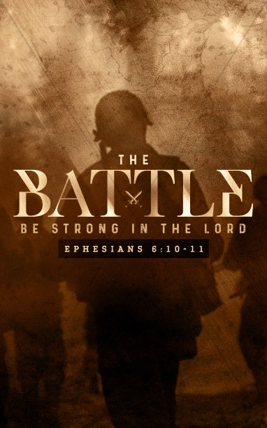 Spiritual Battle Church Bulletin Cover