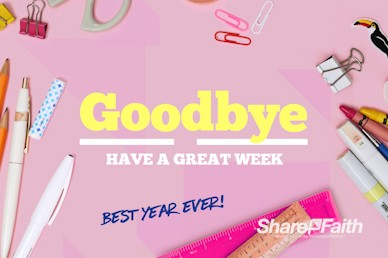 Back to School Supplies Goodbye Motion Graphic