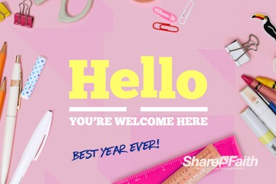 Back to School Supplies Welcome Motion Graphic