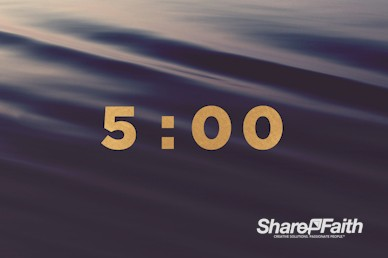 Rippling Waves Church Countdown Timer