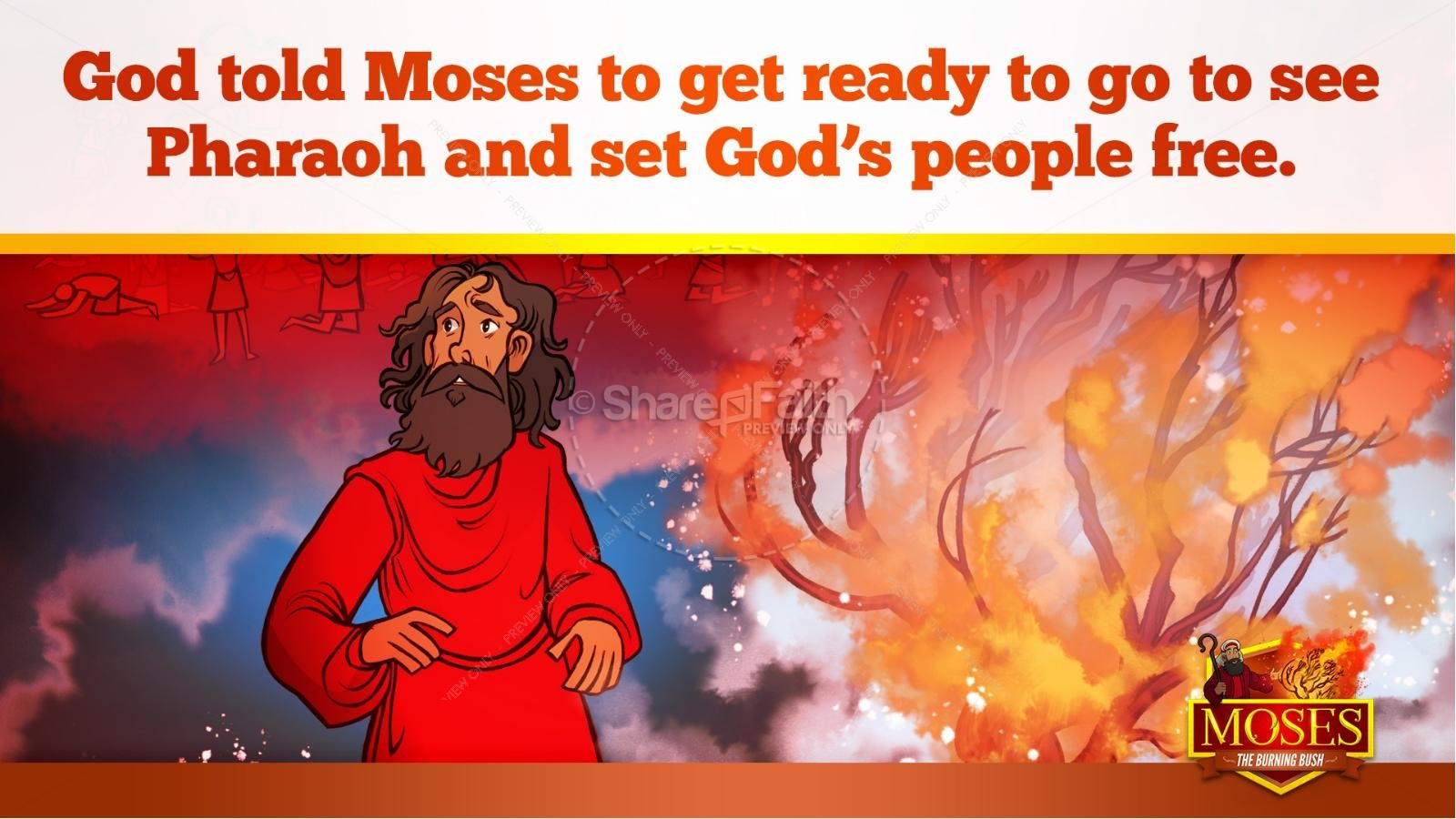 Exodus 3 Moses and the Burning Bush Kids Bible Stories