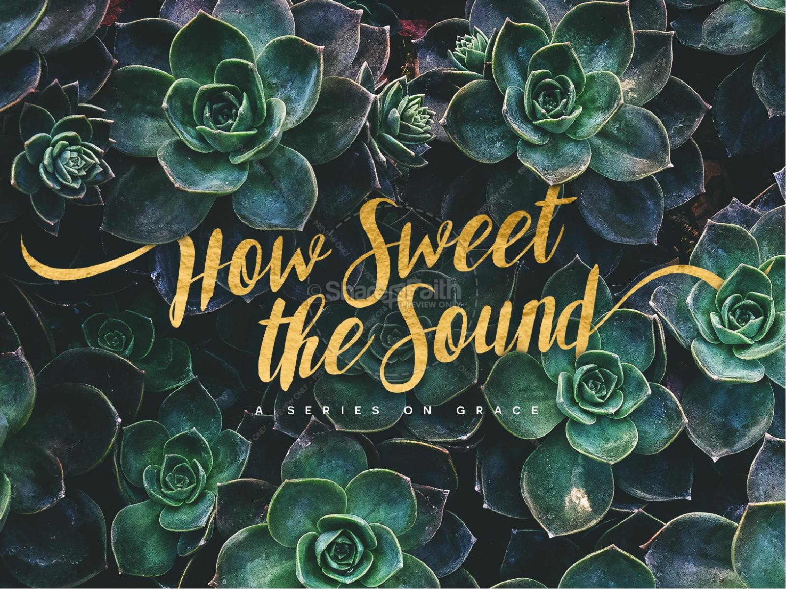 How Sweet The Sound Church Graphic | slide 1