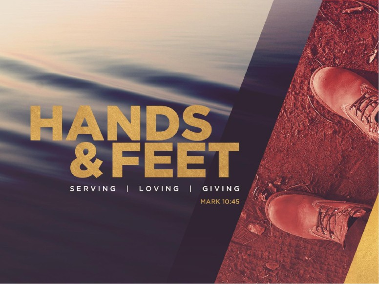 Hands And Feet Church PowerPoint Template