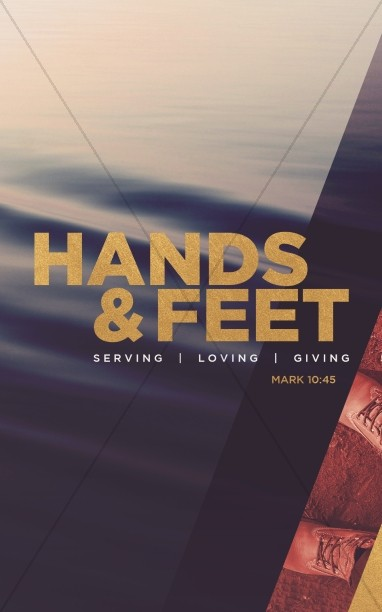 Hands And Feet Church Bulletin Template