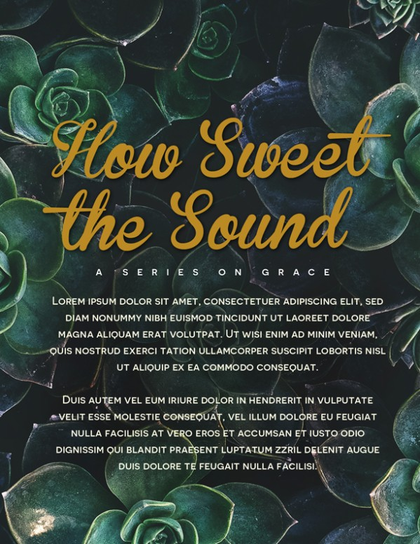 How Sweet The Sound Church Flyer Template