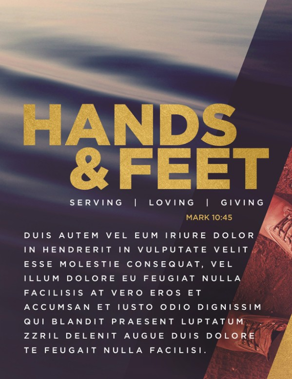 Hands And Feet Church Flyer Template
