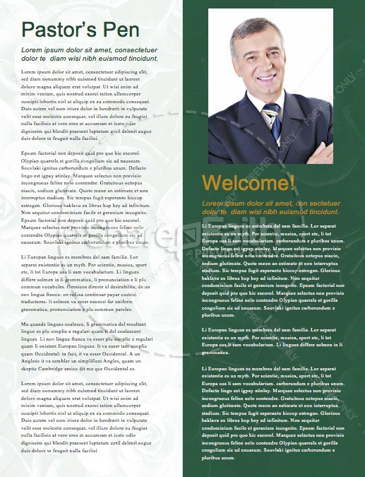 How Sweet The Sound Church Newsletter Template | page 3