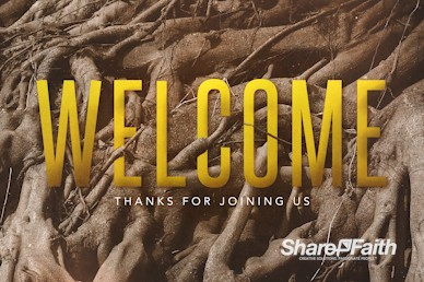 Rooted Welcome Church Motion Graphic