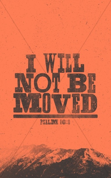 I Will Not Be Moved Church Bulletin Template