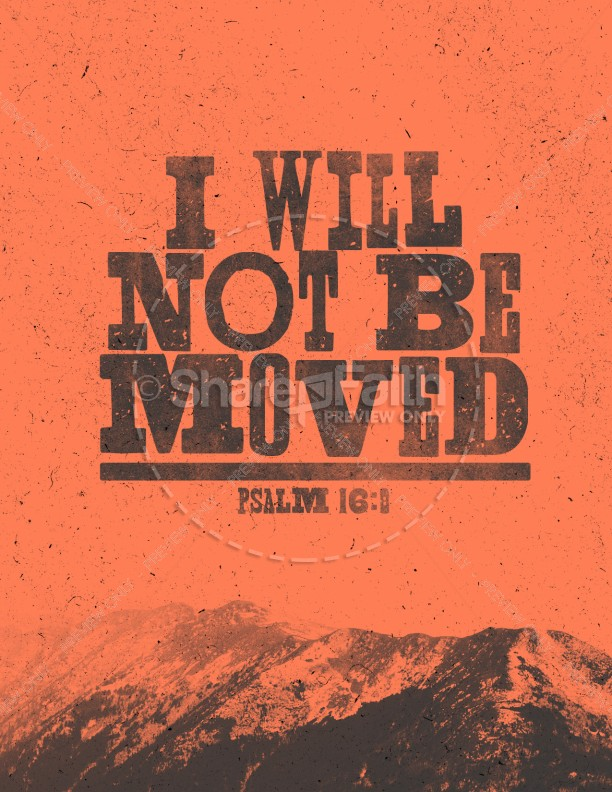 I Will Not Be Moved Church Flyer Template