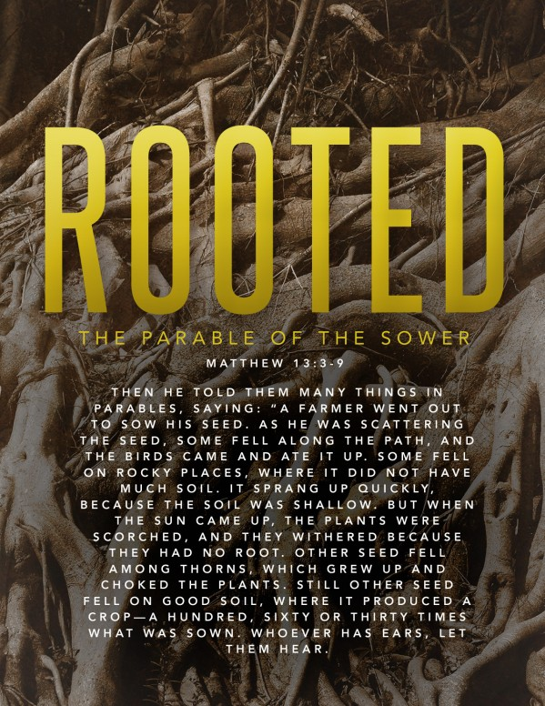 Rooted Parable Of The Sower Church Flyer